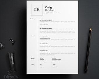 Curriculum Vitae, Resume Template, Engineer CV Template, Digital CV Template, Word CV Template, Cover Letter Resume, Instant Download