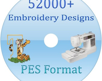 52,000 + Embroidery Designs PES Format