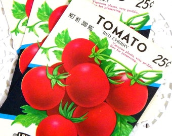 Vintage Seed Packets. Seed Pack. Tomato. Journal Ephemera. Junk Journal Supply. Vintage Journal. Embellishment. Vintage Garden. Ephemera.