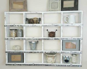 Large Wall Cubby Organizer - Large Wall Cubby - Wall Shelf - Cubby Organizer