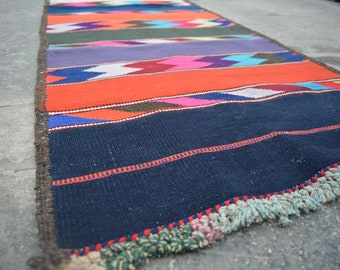 VERY LOW PRICE / Vintage Afghan Long Handwoven Kilim Hallway runner