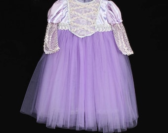 Rapunzel Costume, Tangled Inspired Costume, Rapunzel Dress, Princess Dress, Tangled Dress, Rapunzel Tutu Dress, Disney Princess Costume