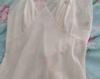 Vintage Soft Pink Gown Small
