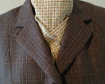 Lovely olive/brown/tan stock tie
