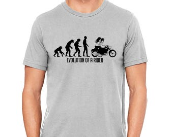 Evolution of a Motocycle Rider for Men  and Women Tshirt