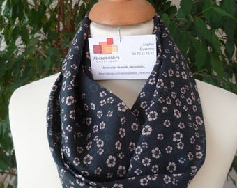 SCARF INFINITY SCARF WITH COTTON PRINTS