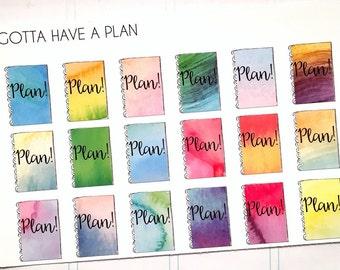 Planner Stickers Planning Watercolor for Erin Condren, Happy Planner, Filofax, Scrapbooking