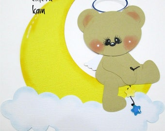 Elite4u Kam Baby BEAR Die Cut Premade Paper Piecing for Scrapbook Layout Page