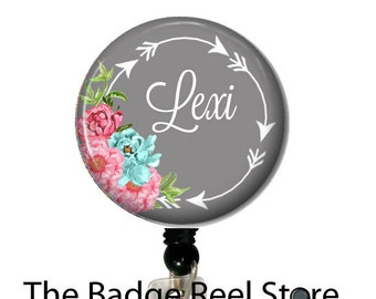 ID Tag, Badge Reel, Clip, Name Badge Holder, Retractable ID Badge Holder - Preppy - Arrows - Name Tag