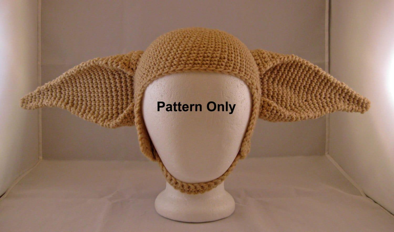 PATTERN: Elf Ears Crochet Hat Adult