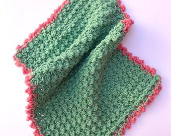 Beautiful Eco-Friendly Reusable Handmade Pretty Tea Towel with Hanging Loop