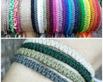 Hemp Bracelet - For Men or Women - Made to Order Friendship Bracelet - Summer Surfer Casual String Hippie Woven Jewelry