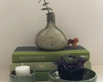 Green Handmade Pottery Handmade Pottery Centerpiece