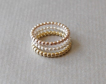 Gold-plated knuckle ring ankle ring ball ring Stappelring