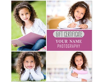 Gift Certificate 5x5 2 Sided Flat Card Photoshop Template 001