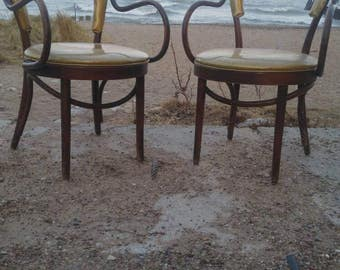 Vintage Thonet Bentwood's with Custom Seat Cushion & Back (Priced as per item or as in each).