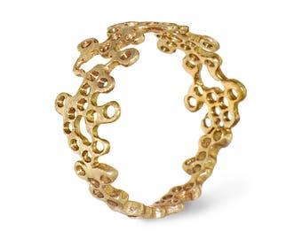 Memorial Day SALE GOLDEN NEST 14K White Gold Pearl Ring