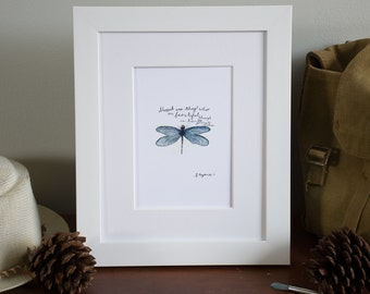 Dragon Fly Print // Blessed are those who see beauty in humble places //