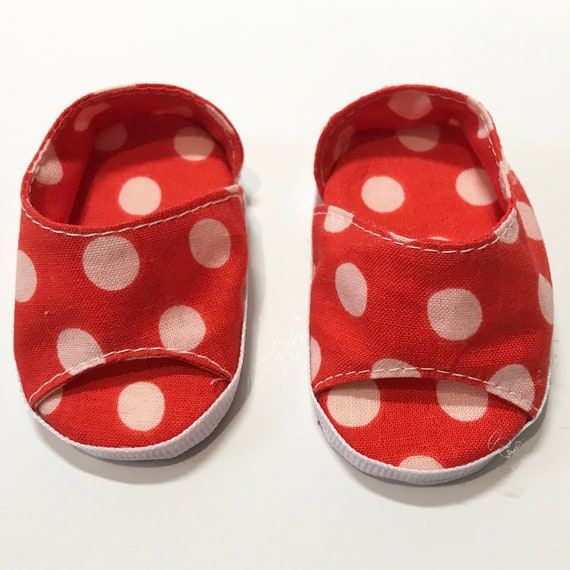 "Slip-on Shoes in Cotton for American Girl and Other 18"" Dolls"