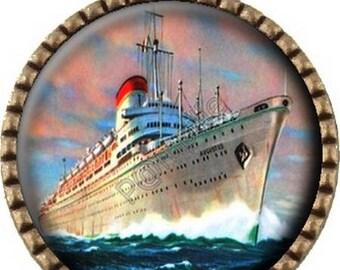 Bronze pendant Cabochon - starboard liner (488)