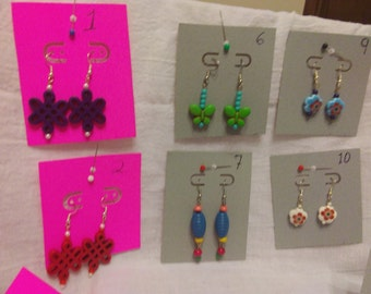 Colorful fashion earrings