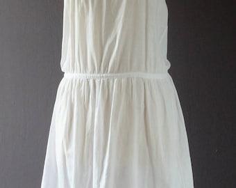 1920s white cotton slip,