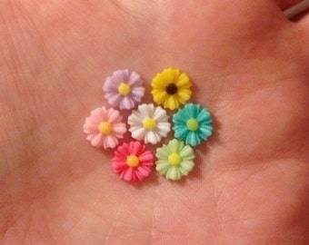 Daisy Sunflower Rainbow Flower Pick Your Hypoallergenic Post. Perfect for Helix Cartilage Lobe Labret Piercing or Lapel Pin