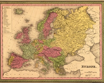 Poster, Many Sizes Available; Map Of Europe 1849