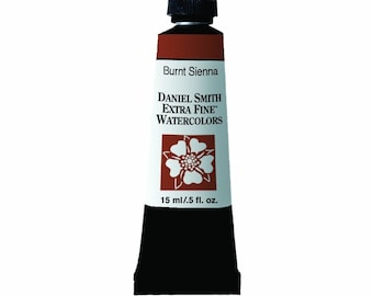 Burnt Sienna Watercolor Paint, 15ml Paint Tube, Daniel Smith Extra Fine Watercolor
