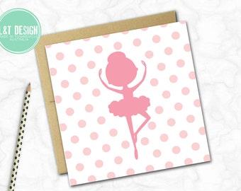 Ballerina Spots Mini Card
