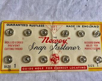 Vintage Newey 1950 snap fasteners size 1