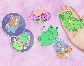 Kawaii Space Nugget Stickers