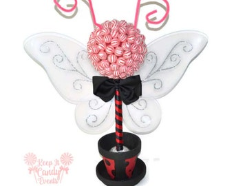 Ladybug Lollipop Topiary, Ladybug Candy Topiary, Ladybug Candy, Ladybug Decor, Ladybug theme, Ladybug Centerpiece, Ladybug Baby Shower