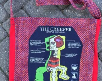 Minectaft Creeper tshirt bag