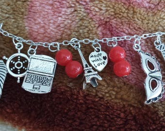 Fifty shades of Grey inspired bracelet