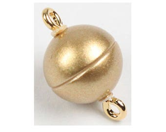 Gold Matte Magnetic Clasps in Three Sizes - 8mm, 10mm, and 12mm