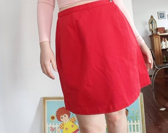 Vintage Red Skirt by Eddie Bauer