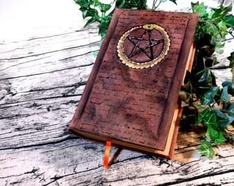 Eternal Widdershins Pentacle 500 Page Blank Book of Shadows Painted Journal