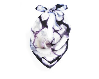 Shibori Neck Scarf - Hand Dyed Habotai Silk