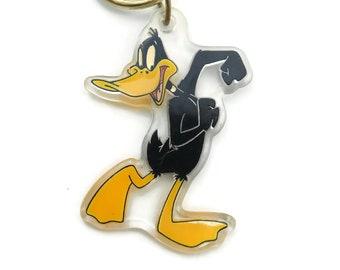 Vintage, Daffy Duck, Key Chain, Warner Bros, Plastic, Circa 1997