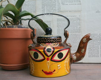 Fun and Quirky Hand Painted Decorative Teapot