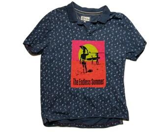 The Endless Summer Surf Casual polo Shirt Cotton USA vintage 90s - sz L-XL