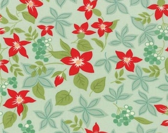 April Showers may flowers aqua Bonnie & Camille moda fabric FQ or more