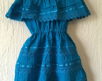 Campesino mexican turquoise dress