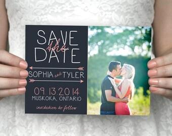 DIY printable photo save the date postcard - Sophia & Tyler.