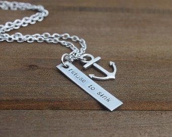 refuse to sink | necklace