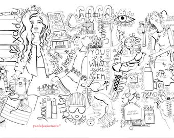 PDF* Coloring Fashion Illustration (Tabloid)