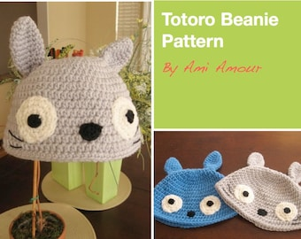 Totoro Hat Pattern PDF Beanie
