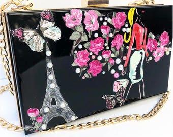 Paris clutch bag