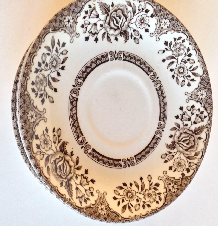 🔎zoom  sc 1 st  Etsy & Kew Garden English Tableware Saucer. Genuine Hand Engraved
